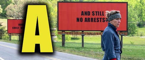 three billboards rating poster